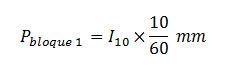 Fórmula bloque alterno 1