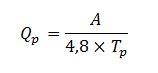 Fórmula Caudal Pico Tiempo al Pico