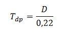 Fórmula Tdp D