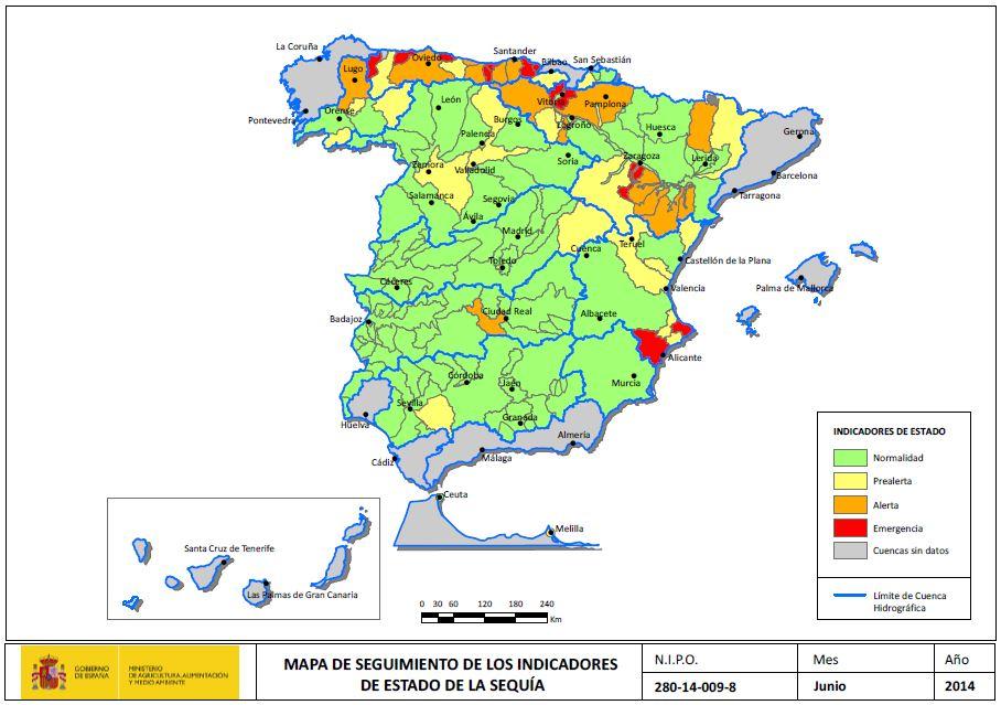 Indicador Estado Sequía ONS