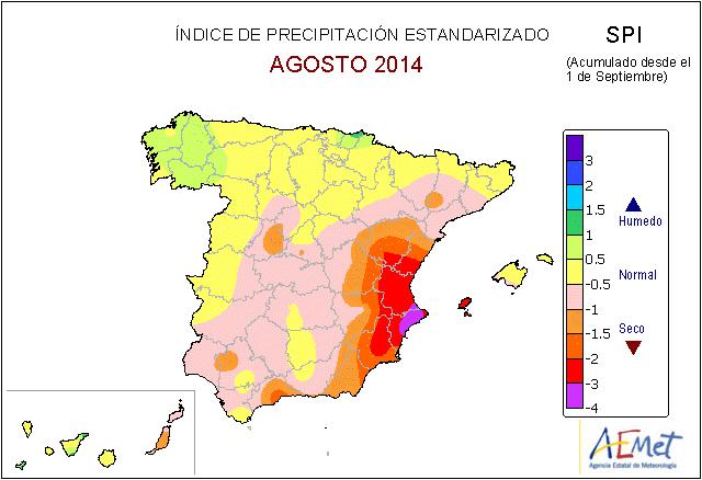 Índice de precipitación estandarizado. AEMET