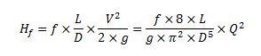 Fórmula de Darcy-Weisbach de pérdida de carga por fricción en tuberías