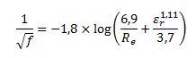 Fórmula de Colebrook