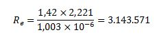 Cálculo del número de Reynolds