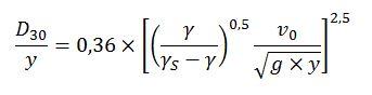 Fórmula dimensionamiento escollera
