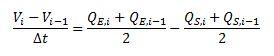 Ecuación de continuidad discretizada