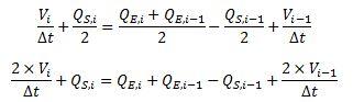 Ecuación de continuidad discretizada con términos ordenados