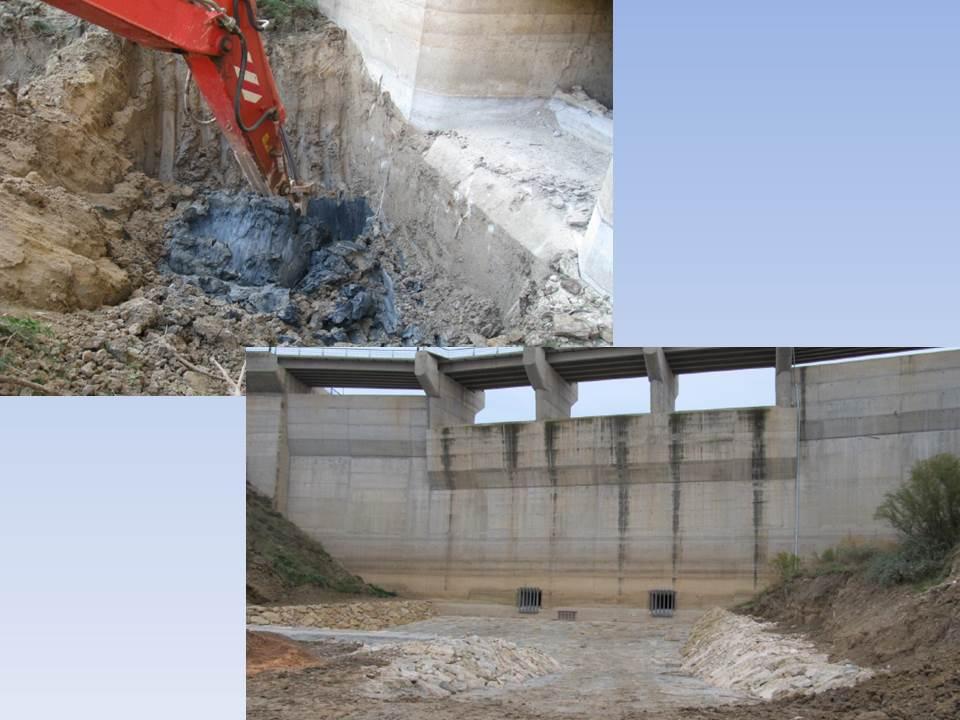 Extracción de sedimentos en la presa de la Rambla del Moro
