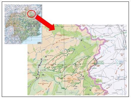 Emplazamiento del Altiplano en la Región de Murcia