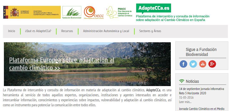 Plataforma para la adaptación al cambio climático