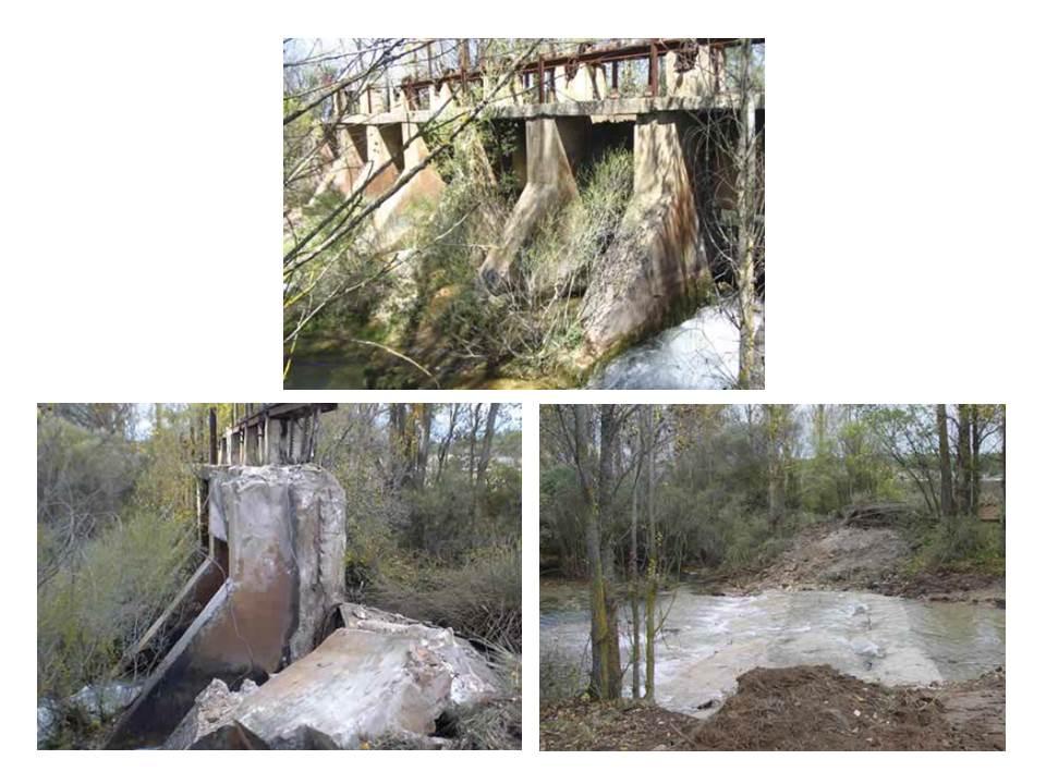 Demolición Azud Rio Abión