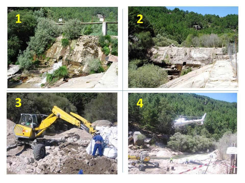 Demolición Presa de El Tranco Rio Manzanares Madrid