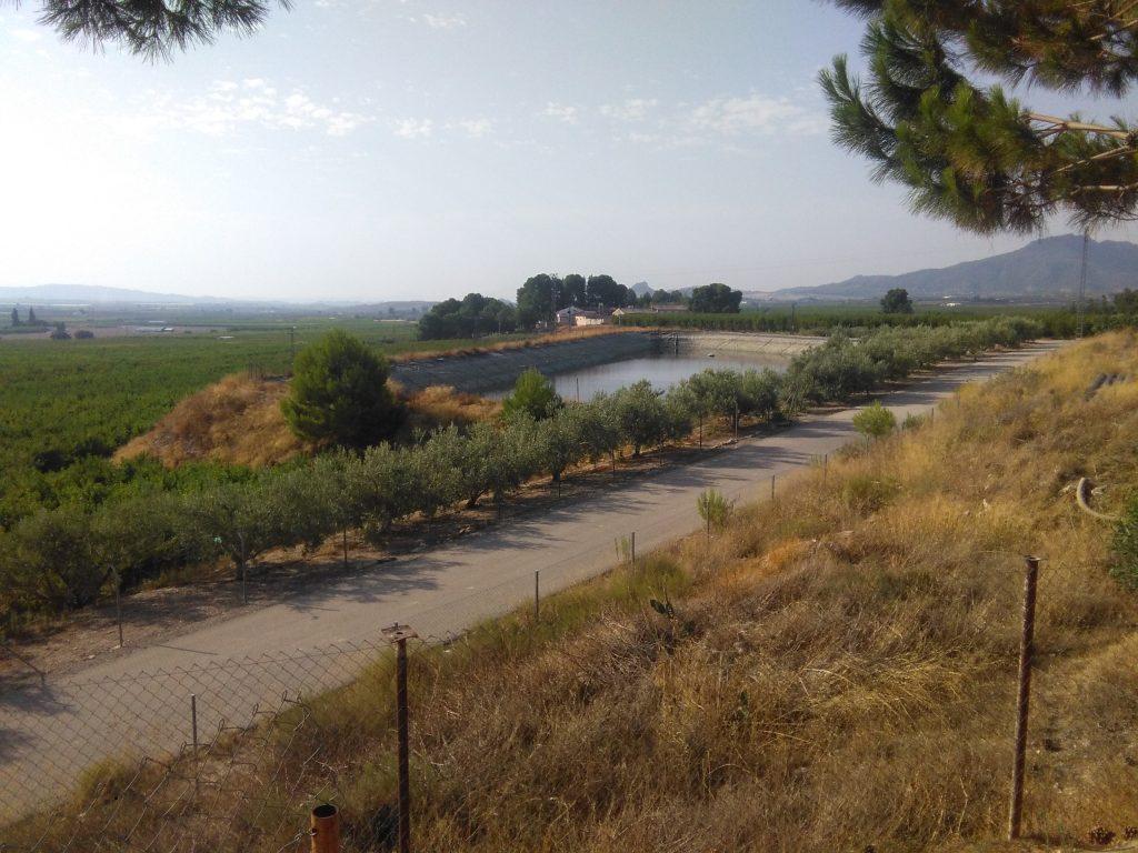 Balsa de riego en la Región de Murcia