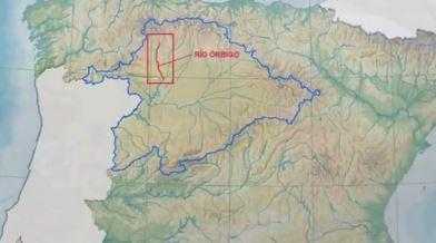Localización del río Órbigo en la cuenca del Duero