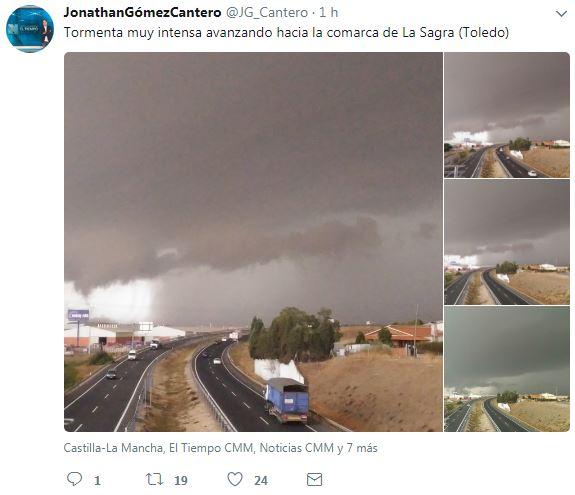 Tormenta intensa La Sagra Toledo