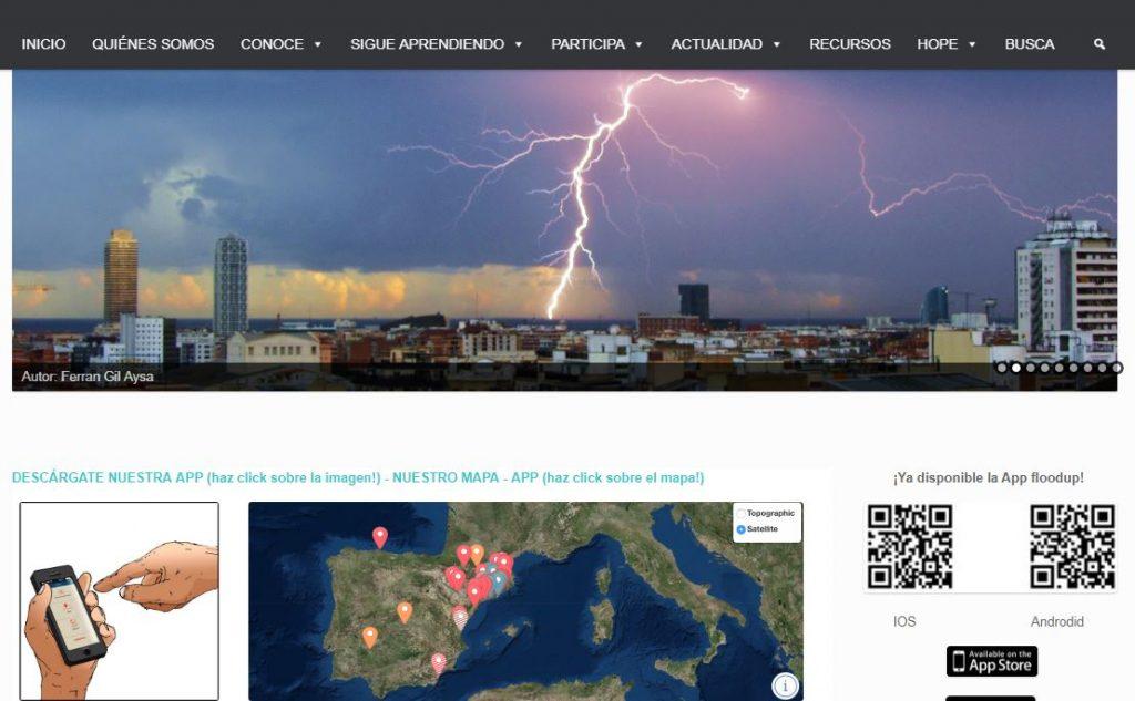 Página web del proyecto FLOOD UP