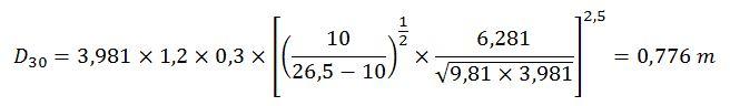 Cálculo diámetro característico escollera