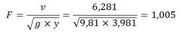 Cálculo número de Froude