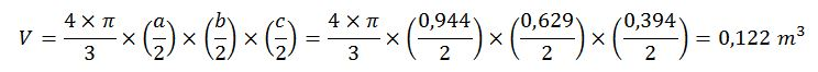 Cálculo volumen elipsoide