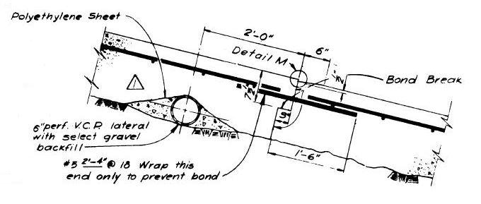 Detalle de una junta en la losa del canal del aliviadero de Oroville