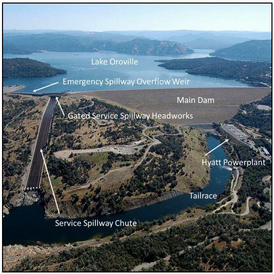 Instalaciones de la presa de Oroville